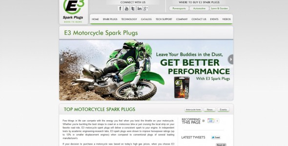 E3 Motorcycle Spark Plugs