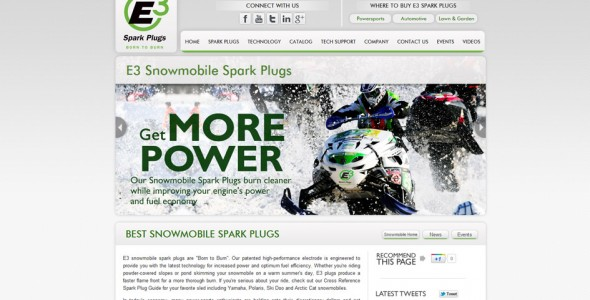 E3 Snowmobile Spark Plugs